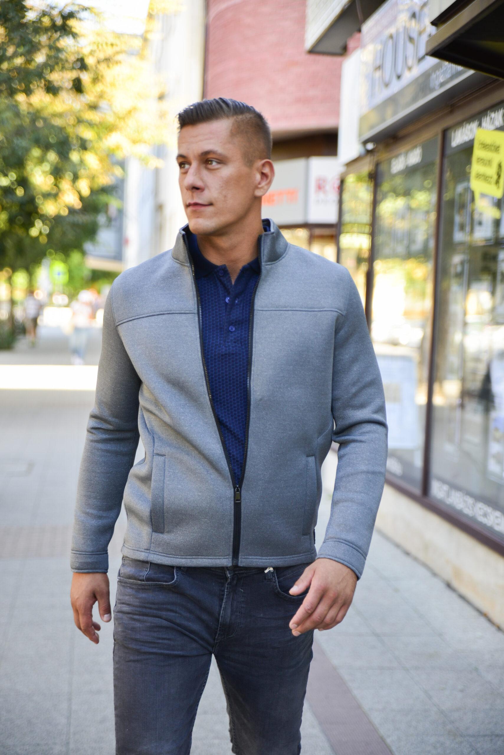 blend szürke dzseki